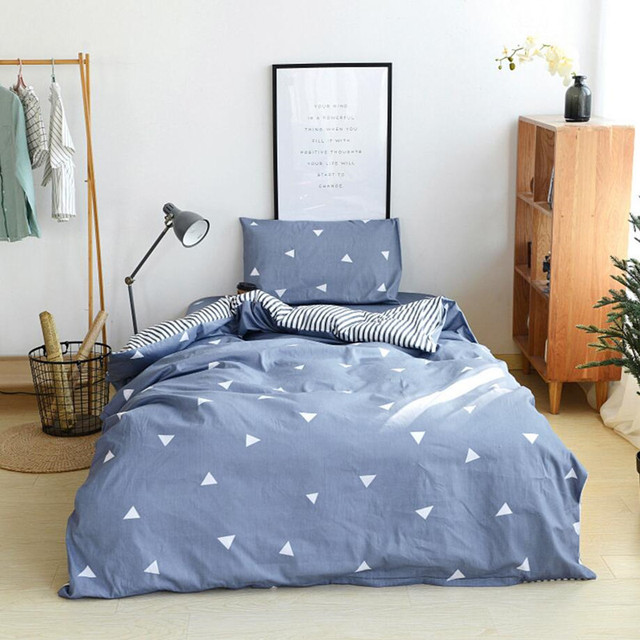 b6183918cd Twin Size Cotton Bedding Set Single Bed For Student Bed Linens Sheet  Pillowcase Duvet Cover Sets XF5-8