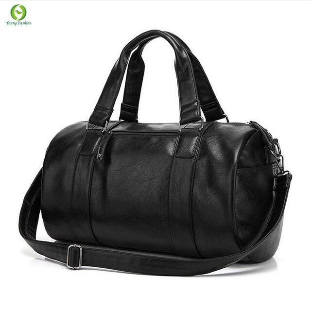 Alta calidad de los hombres bolsa de viaje de cuero ocasional de los hombres del bolso de hombro del Estilo de Muy Buen Gusto bolsa de lona mensajero