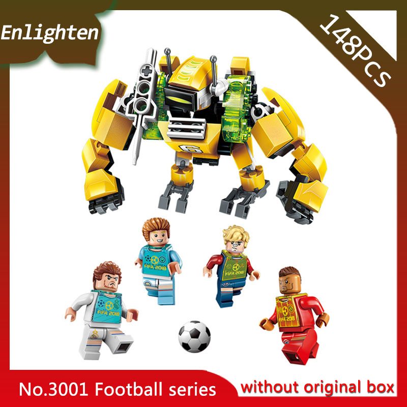 Enlighten 3001 147pcs Super Soccer Defensive Zone Robot Building Blocks Educational Toys Children Gift