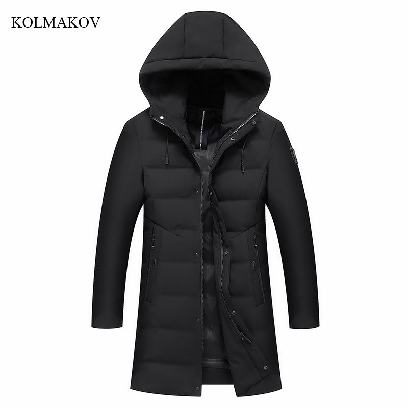 New Style Men Boutique Leisure   Down     Coats   Fashion Casual Hooded Solid White Duck Long   Down     Coat   Trench Clothes Plus Size M-4XL