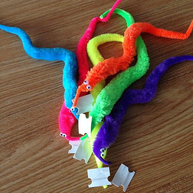 6 Colors Plush Magic Twisty Worm Kids Trick Caterpillar Toys Kids Children magic games Toys