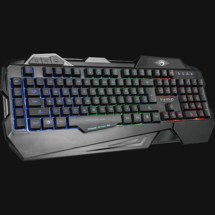 цена на MARVO Gaming Keyboard ,Rainbow Backlight Gaming Keyboard USB Wired Professional Ergonomic Keyboard For Computer Desktop KG745