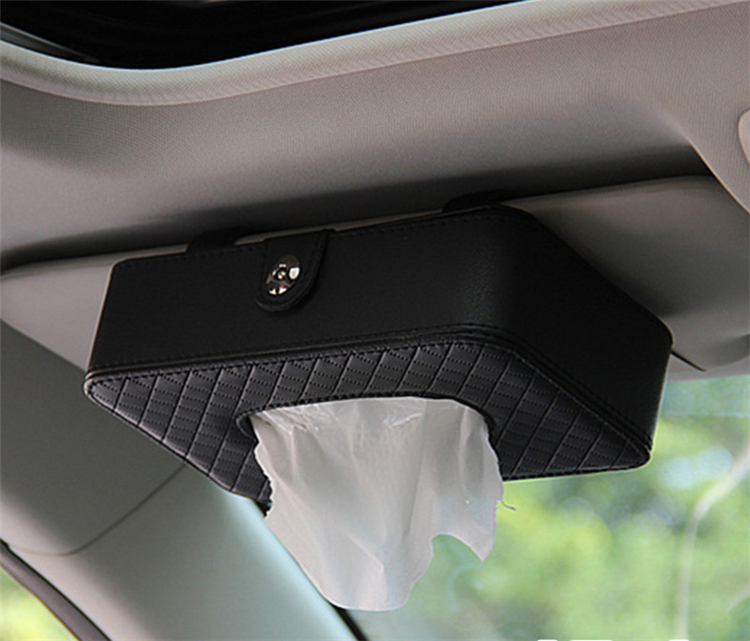 Car Tissue Box Napkin Holder Auto Paper Cover Case Organizer Towel Holder Kleenex Boxes