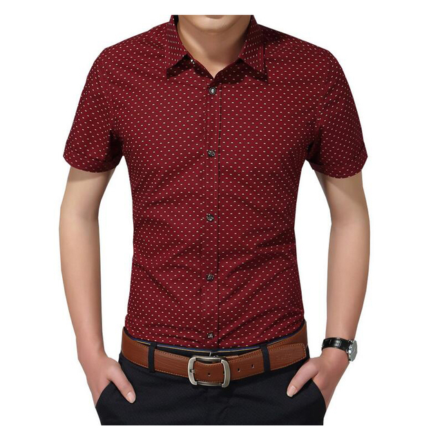 a0d235247 High Quality 2018 New Arrival Men's Shirt Cotton Men Social Shirt Mens  Short Sleeve Shirts Man