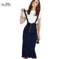 2018 S-5XL Mode Sangle Jupe Plus La Taille Stretch Denim Jupe Pour Les Femmes Mince Jupes Casual Ouvert Split Jeans Unique-breasted Jupe