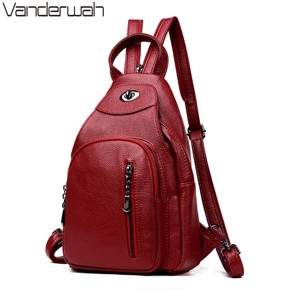 где купить NEW Fashion Casual Women Backpacks Women's PU Leather Backpacks Female school Shoulder bags for teenage girls Travel Back pack по лучшей цене