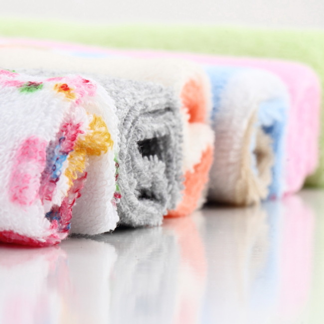 5 Pcs New Hotborn Children Colorful Soft Baby Bath Towels Washcloth For Feeding Bathing Hot Selling
