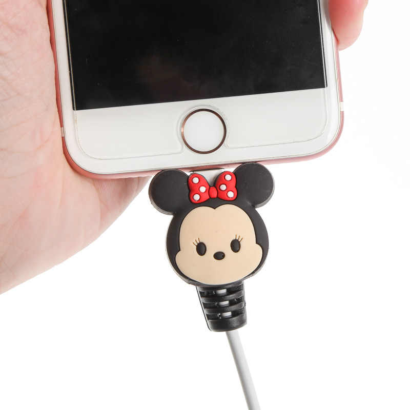 2pcs/bag Lovely Cable Protector Charger USB Cable Winder For Apple IPhone For Smartphone cable Protect decoration