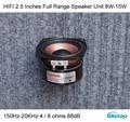 HIFI 2.5 Polegada Unidade Falante Full Range 4/8 ohms 8 ~ 15 W 150 hz-20 khz para pequena área de trabalho wi-fi bluetooth alto-falantes de alta sensibilidade DIY