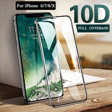 Applicable iPhone X XR XS Max Glass Film 10D Apple Full Screen For 6 7 8 Plus protective Protector Tempered