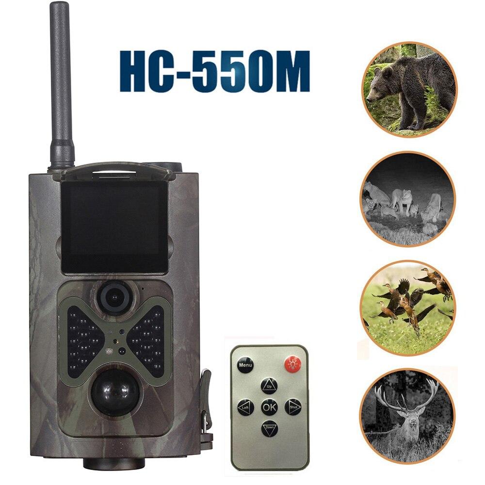 HC550M Chasse Caméra 2G GPRS MMS 16MP 1080 P 120 Degrés PIR 940NM Infrarouge Faune Trail Caméras
