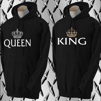 king and queen sweatshirt Matching Couple Hoodies Boyfriend & Girlfriend Crown Lovers Sweatshirts
