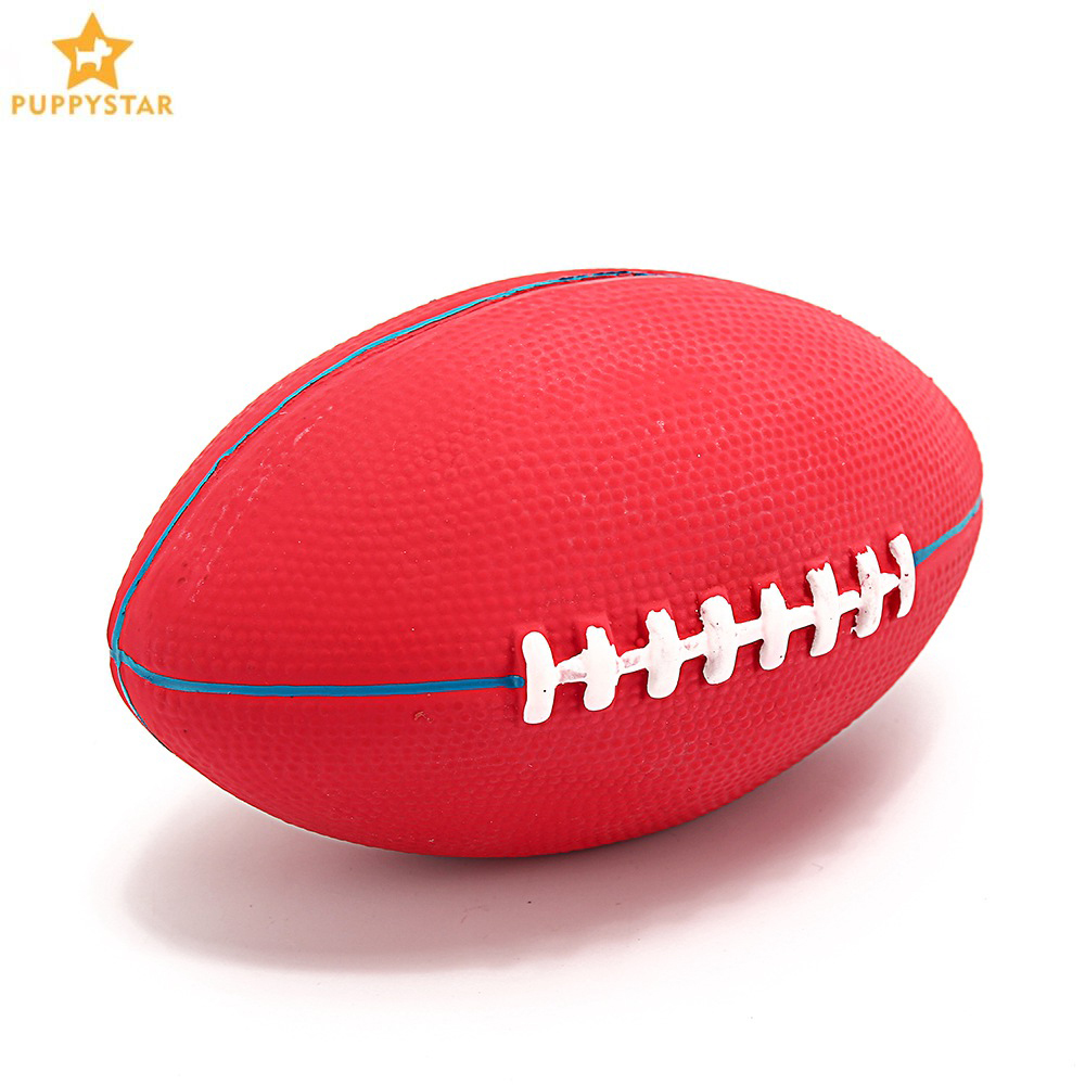 Rubber Rugby Toys For Dogs Solid Squeak Chew Ball toy For Small Medium Large Dogs Pet Games Interactive Toy Dog Supplies SJ0016