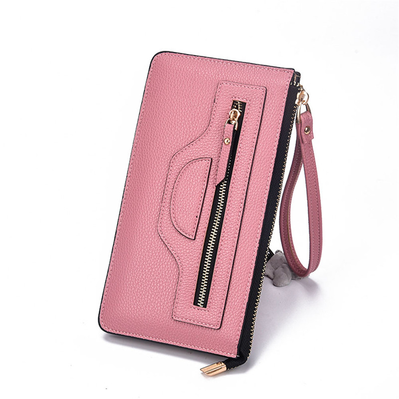New Fashion Lady Women Leather Wallet Long Clutch Card Holder Purse Handbag   100% brand new and high quality A8  new arrive 1pc women lady faux leather clutch envelope wallet long card holder purse hollow hot