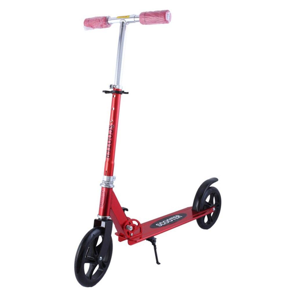 Roue en polyuréthane alliage d'aluminium coup de pied Scooter pliable Portable frein à main réglable en hauteur 95 CM/90 CM/80 CM jouets sport pour enfants