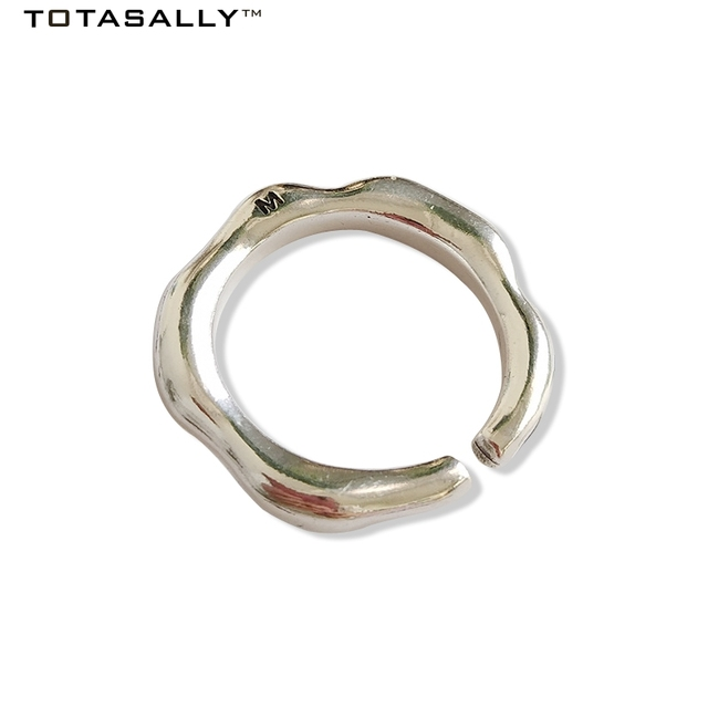 US $13 64 35% OFF|TOTASALLY 100% Real S925 Sterling Silver Fashion vintage  stylish tribe letter M carved Cocktail Finger Rings For Women party-in