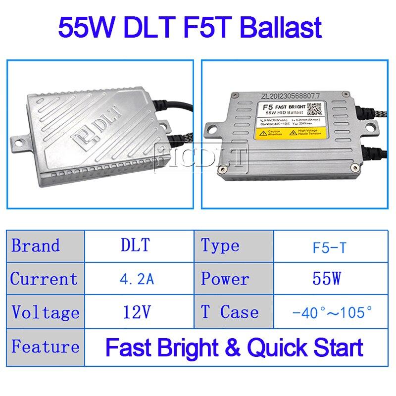 SKYJOYCE AC 55W DLT F5 Ballast Fast Bright Quick Start Reator DLT F5T HID Slim Digital Ballast For 55W Xenon HID Headlight Kit (2)