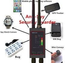 1mhz 12gh rádio anti espião detector de sinal do fbi gsm rf detectores de rastreador automático gps localizador bug com antena led magnética longa