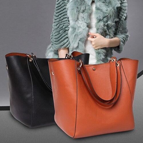 Fashion Women Large Split Leather Handbag Messenger Shoulder Tote Bag