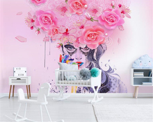 beibehang Modern super smooth personalized papel de parede	 3d wallpaper minimalist illustration flower colorful sexy beautiful