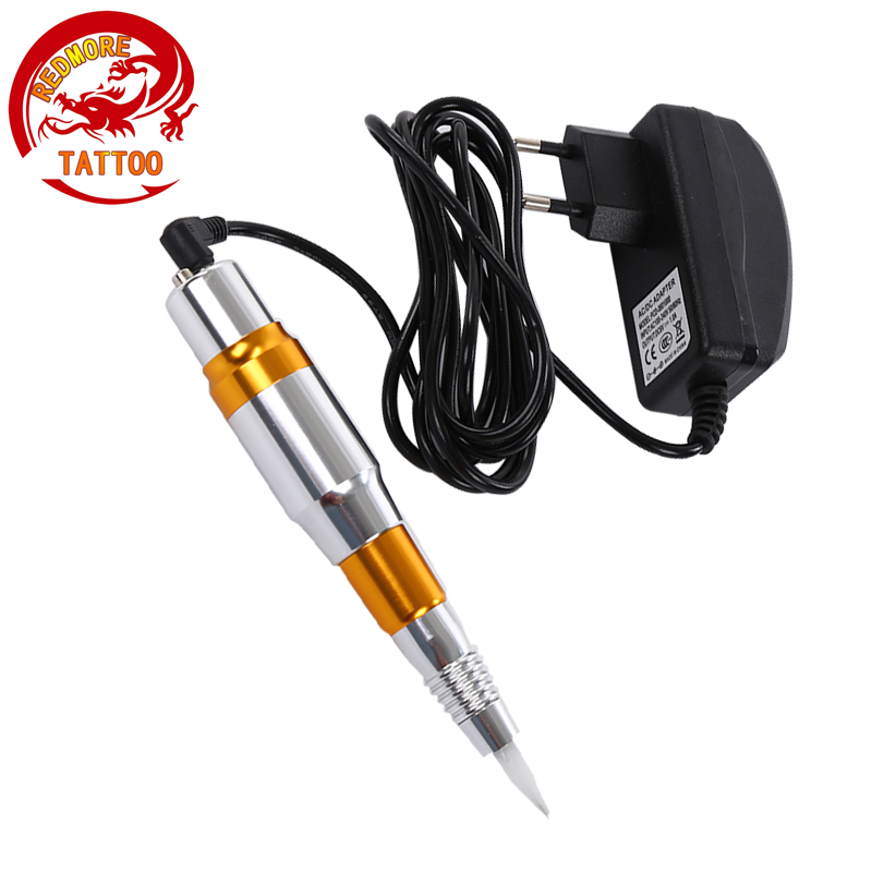 Tattoo Permanent Makeup Pen Machine Eyebrow Make up Lip Rotary Tattoo Machine Swiss Motor Pen Gun PMP-703-09 2017 tattoo cartridge permanent makeup pen machine eyebrow make up rotary tattoo machine swiss motor shader and liner pen gun