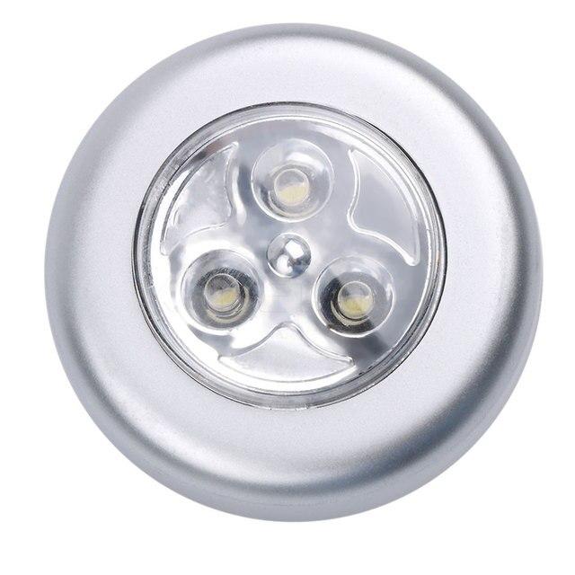 night lamp licht mini touch light blub draadloze heldere led wandlamp keukenkast closet verlichting sticker tap