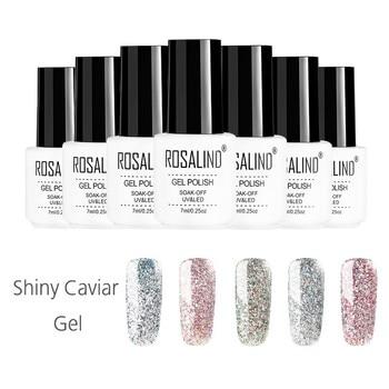 ROSALIND 7ml Shiny Caviar Sparkling Caviar Nail Polish Nail Art Manicure Semi Permanent Soak off Glitter UV LED Gel Lacquer Nail Gel
