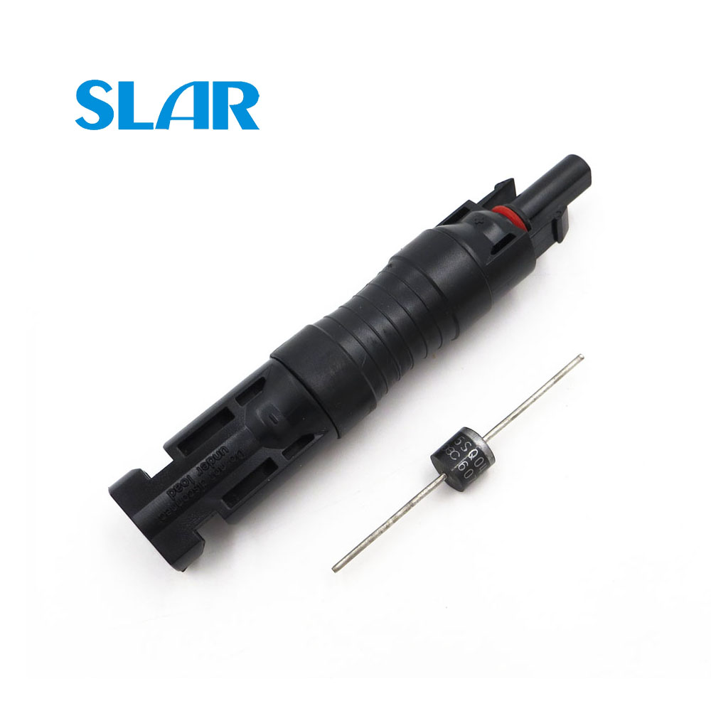 PV Diode MC4 Connector IP68 Waterproof With 15A 10A Diodes 10SQ045 15SQ045 Solar Cell Panel Parallel Connection Protection