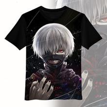 Новое поступление, футболка для мужчин, Токийский Гуль, Летний стиль, Kaneki, футболка кэна, аниме, Повседневная футболка с коротким рукавом, мультяшная футболка