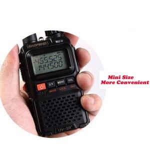 Image 4 - 2 PCS Baofeng UV 3R Plus Mini Walkie Talkie Ham Two Way VHF UHF Radio Station Transceiver Boafeng Scanner Portable Walkie Talkie