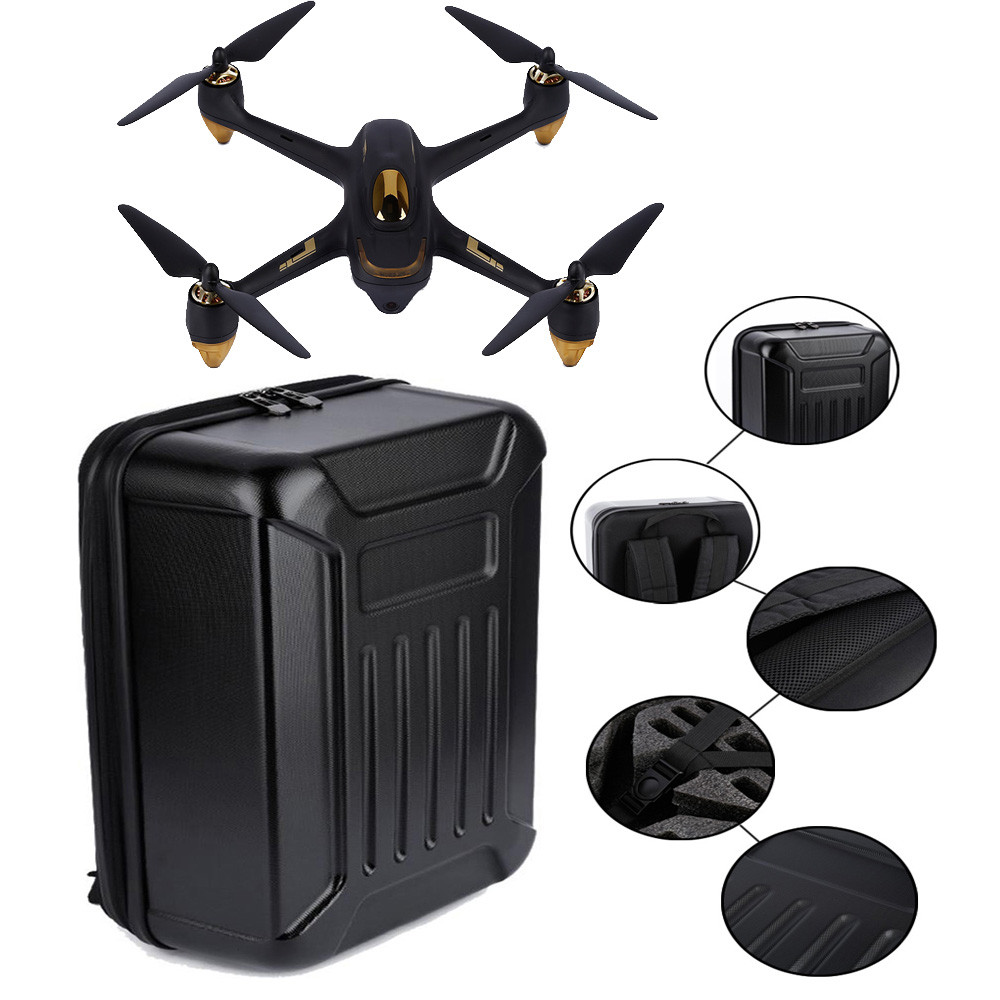 HIPERDEAL Black ABS Hard Shell Backpack Case Bag For Hubsan X4 H501S Quadcopter hard shell backpack case bag for hubsan x4 h501s rc quadcopter