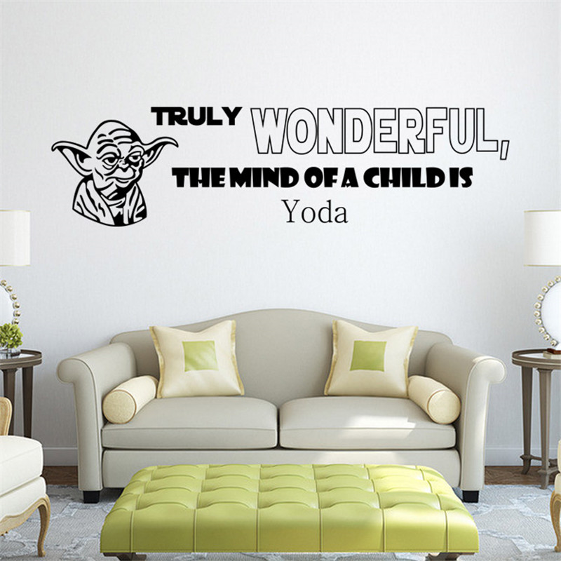 Star Wars Wall Decal Quotes Truly Wonderful The Mind Of A Child Is Yoda Wall  Murals Images