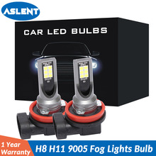 цены на 2Pcs H8 H11 Led Fog Lights Bulb 9006 9005 H1 H3 H4 H7 3030 12SMD 1600LM 6500K White Car Driving Running Lamp Auto Light 12V 24V в интернет-магазинах