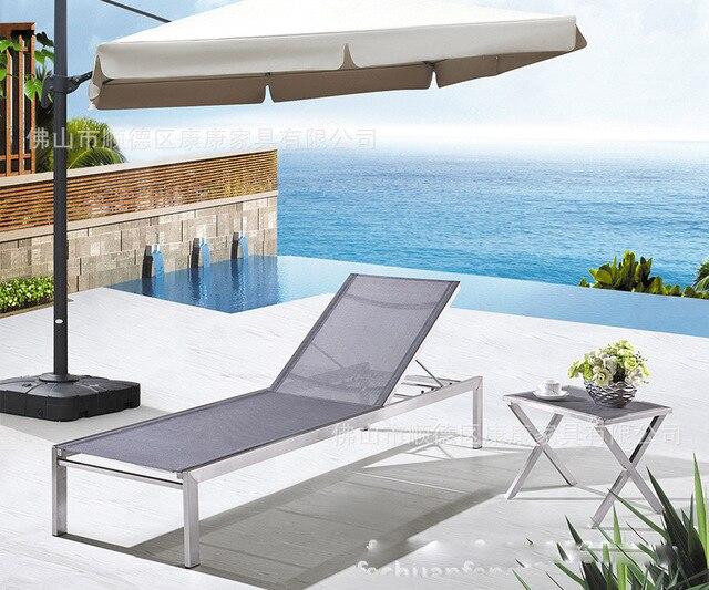 Aluminio sillas de playa cama de lino persona siesta oficina cama ...