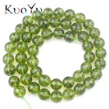 "Green Peridot Stone Beads Round Loose Spacer Beads For Jewelry Making Natural Stone Beads Diy Charm Bracelet 15""Strand 6/8/10mm"