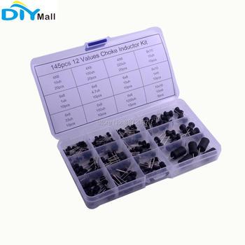 145 unids/set Inductor Choke surtido Kit + caja de plástico 12 valores 10uH-10mH