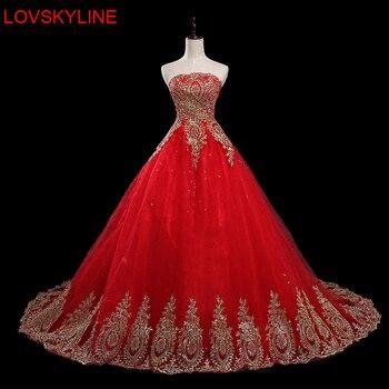 Верхнюю часть пробки свадебное платье вечернее платье красного невесты свадебное платье тонкий плюс размер роскошный жениться платье