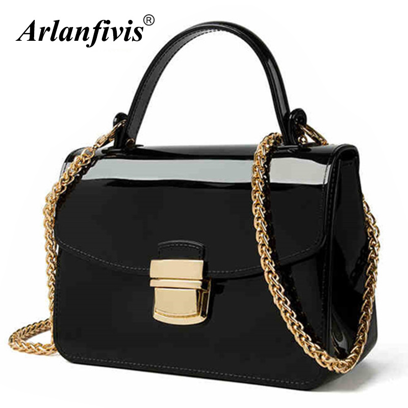 Candy Crossbody Bags New 2018 Gold Chain Strap jelly bag Women Messenger Bag Flap Handbag Small Summer Bags Cute Girl Fashion new designer brand cute small messenger bag small handbag girl 3 colors crossbody bag lady female women messenger bags gift