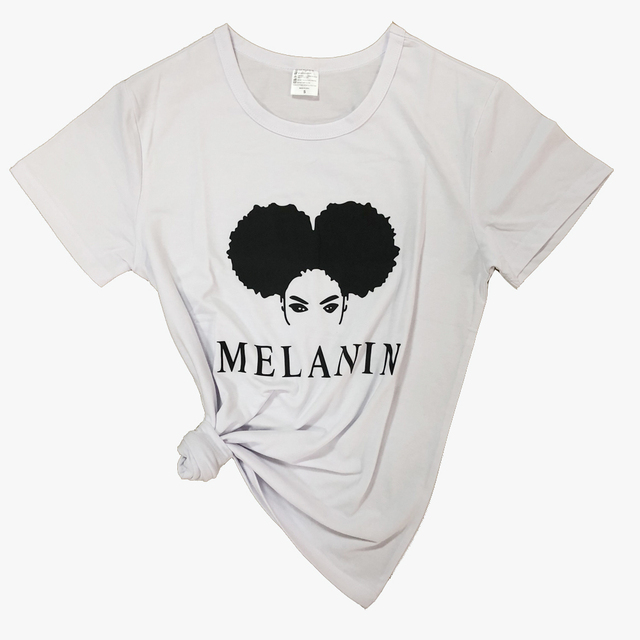 Melanin t-shirt Women's Fashion clothes t shirt Female summer style tops tshirt funny graphic tees