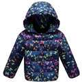 New design baby girls winter autumn Fashion print hooded lovely white duck down jackets  Kids Warm Parkas Girls Clothes Outwears