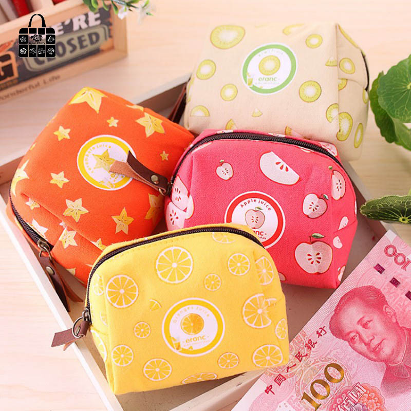 Rose Diary Colorful fruit series canvas zipper coin purses zero wallet child girl boy women purse,lady zero wallets,coin bag 1pcs rose diary hero alliance pu zipper coin purses zero wallet child girl boy women purse lady zero wallets coin bag key bag