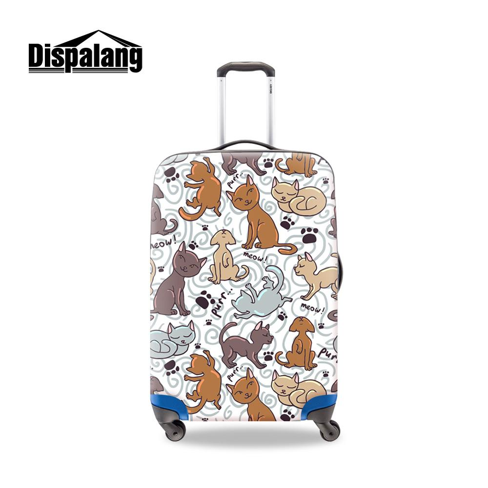 Customized Picture Word On Baggage Cover For Women Cute Style Covers Apply To Trolley Suitcase Accessories Girls Travel Products