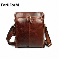 Luxury Famous Brand First Layer Cowhide Bag For Men Vintage Shoulder Crossbody Bag For Genuine Leather