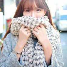 Fashion Women Winter Neck Warmer Cotton Knitted Scarf Female Men Shawls Scarves Cold Wind Stopper Bandana Gift Bufanda Cachecol