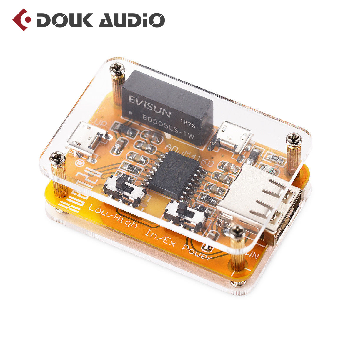 Nobsound adum4160 usb para usb módulo isolador de áudio eliminador ruído industrial isolador proteção 1500 v módulo digital