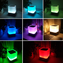 Rechargeable RGB Bedside Night Light with Alarm Clock Bluetooth Speaker and Music Playback
