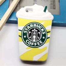 For I6 Star buck Coffee Cup Silicon Soft Case Covers for Apple IPhone 6 6s 6G