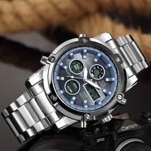 Sports Wrist Watch Men's Military Waterproof Brand Watches Fashion Full Steel Men LED Digital Watch Men Wristwatches Clock Male цена и фото