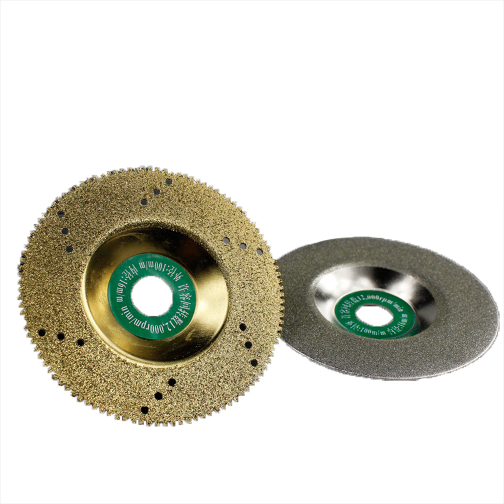 Cutting Blade Electroplated Diamond Blades Bowl  Stone Ceramic Tile Glass Polishing Sheet Angle Grinder  100x1x16 Saw Blade