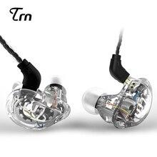 Mais novo TRN V10 2DD + 2BA Híbrido No Ouvido Fone de Ouvido de ALTA FIDELIDADE DJ Monito execução Esporte Fone De Ouvido fone de Ouvido Earplug Com 2PIN PK KZ ZS5 ZST QKZ